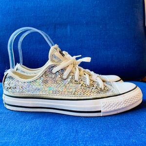 Converse Rainbow Sequined Chuck Taylor Low Tops 6